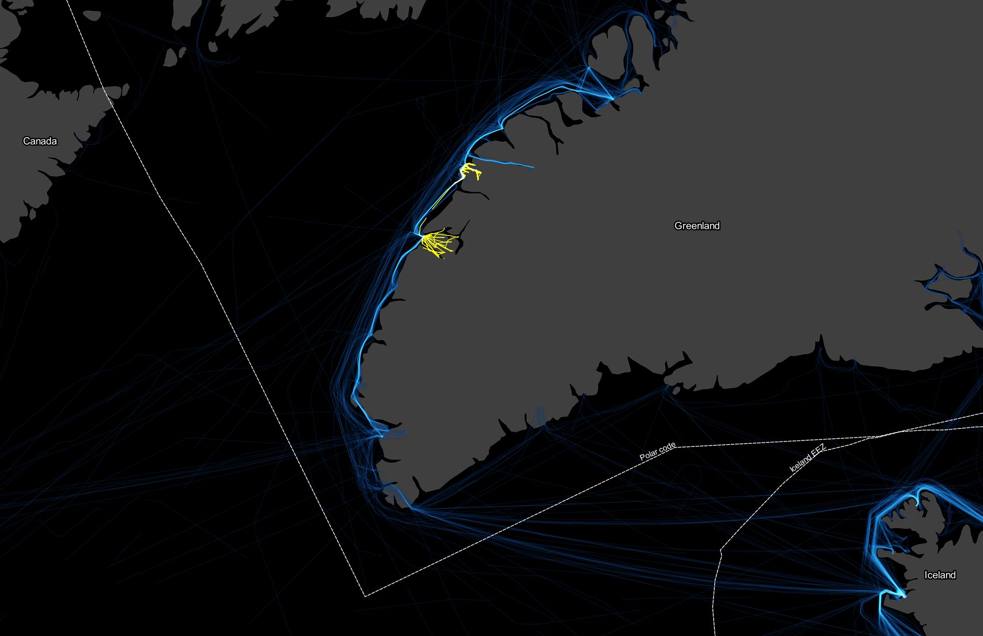 Kisaq Ship Tracks: 2019