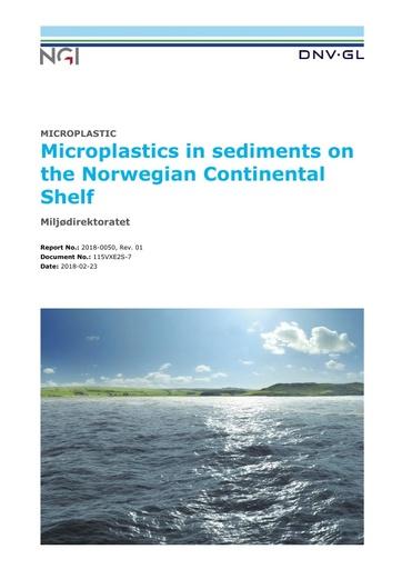 Moskeland, T., H. Knutsen, H. P. Arp, Ø. Lilleeng and A. Pettersen (2018). Microplastics in sediments on the Norwegian Continental Shelf. DNV GL No. 2018-0050, rev. 01. Høvik: 86.